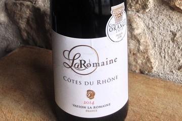 LA ROMAINE à Vaison La Romaine AOC Côtes du Rhône ROUGE 2014