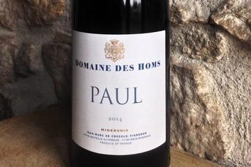 DOMAINE DES HOMS à Rieux-Minervois (Bio)  AOC Minervois Cuvée Paul 2014
